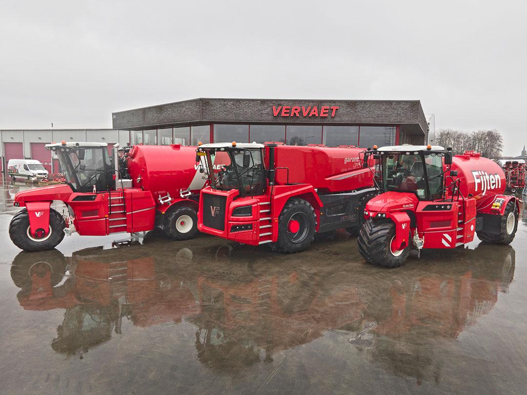 Met de introductie van de Quad 550, levert Vervaet nu drie-, vier- en vijfwielige zelfrijders voor de mest.