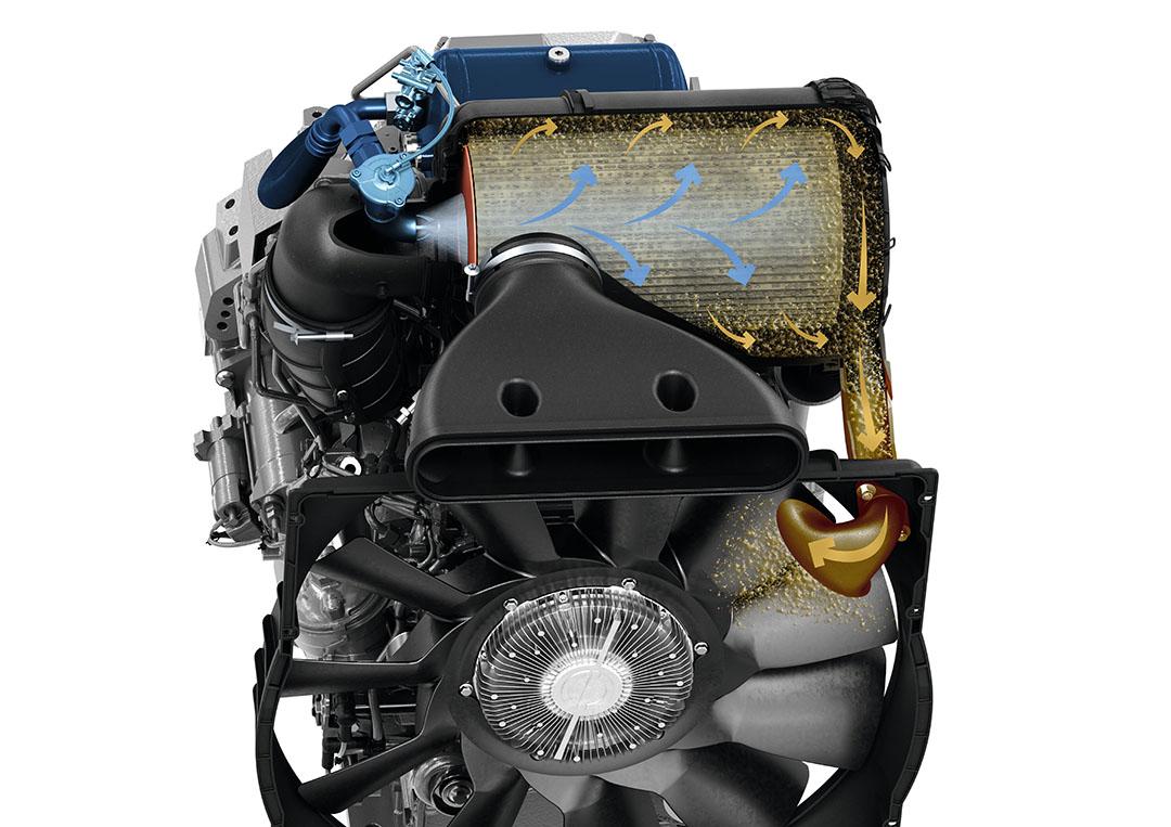 De 900-serie en 1000-serie trekkers zijn voortaan optioneel leverbaar met een zelfreinigend luchtfilter.